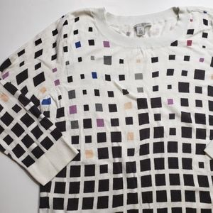 Halogen Square Print Sweater
